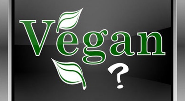 The word vegan with question mark