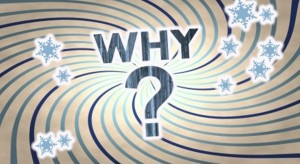 The word why with a question mark
