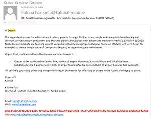 Katrina Fox response to HARO callout