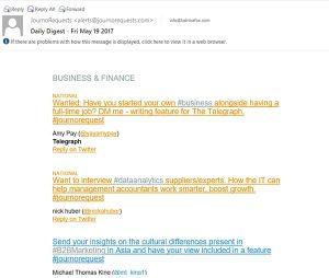 Journorequests inbox