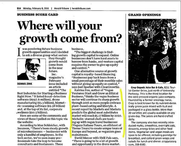 Katrina Fox coverage in Herald Tribune