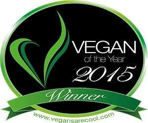 Vegan of the Year logo vegan business media