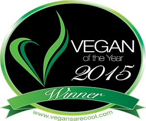 Vegan of the Year logo vegan business media