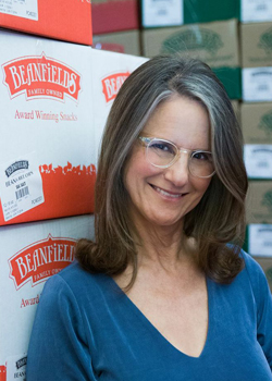 Liza Braude-Glidden of Beanfields Snacks for Vegan Business Talk with Katrina Fox of Vegan Business Media