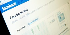 facebook ads page in facebook social media website.